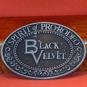 Black Velvet Spirit of Pro-Rodeo Belt Buckle
